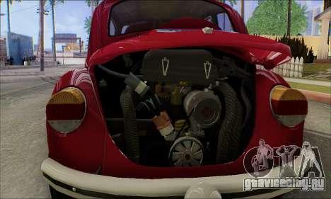 1973 Volkswagen Beetle для GTA San Andreas салон