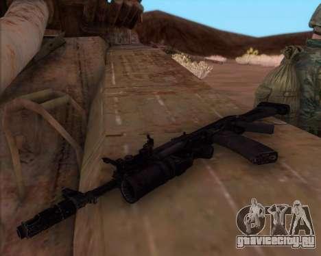 Автомат Калашникова АК-74М для GTA San Andreas второй скриншот