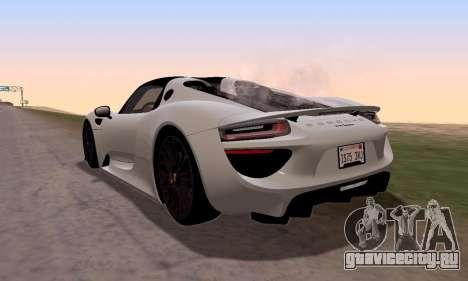 Porsche 918 2013 для GTA San Andreas вид слева