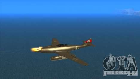 Messerschmitt Me.262 Schwalbe для GTA San Andreas вид изнутри