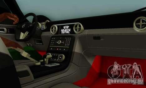 Mercedes SLS AMG Hamann 2010 Metal Style для GTA San Andreas вид снизу