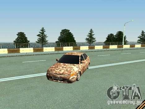 ВАЗ 2110 камуфляж для GTA San Andreas вид слева