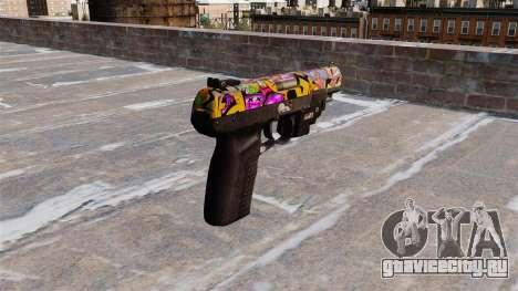 Пистолет FN Five-seveN LAM Graffitti для GTA 4 второй скриншот