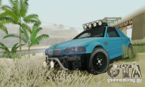 BMW M3 E46 Offroad Version для GTA San Andreas вид изнутри