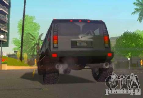 Hummer H2 Limousine для GTA San Andreas вид сзади