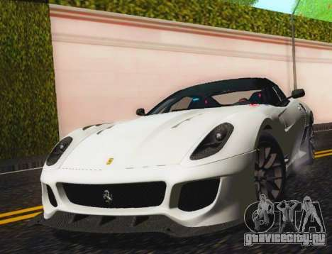 Ferrari 599XX Evolution для GTA San Andreas вид сзади