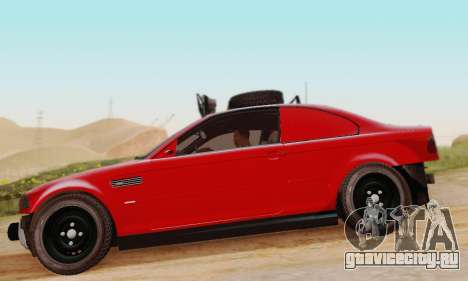 BMW M3 E46 Offroad Version для GTA San Andreas вид сзади слева