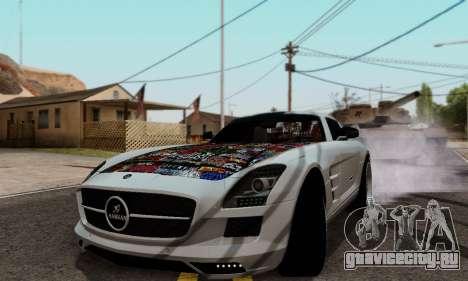 Mercedes SLS AMG Hamann 2010 Metal Style для GTA San Andreas вид слева
