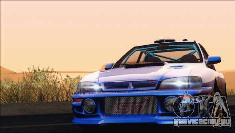 Subaru Impreza 22B STi 1998 для GTA San Andreas вид сзади