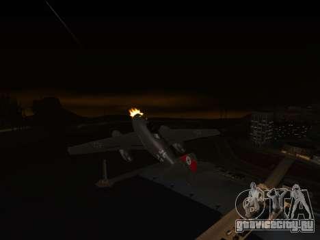Messerschmitt Me.262 Schwalbe для GTA San Andreas вид сзади слева