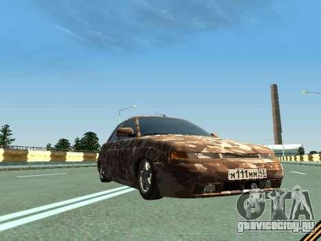 ВАЗ 2110 камуфляж для GTA San Andreas вид изнутри