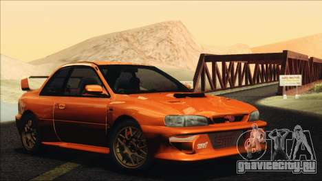 Subaru Impreza 22B STi 1998 для GTA San Andreas вид сзади слева