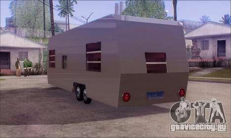 Прицеп Caravan для GTA San Andreas вид слева
