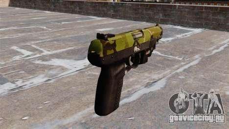 Пистолет FN Five-seveN LAM Woodland для GTA 4 второй скриншот
