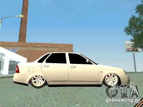 Lada 2170 Priora для GTA San Andreas вид сбоку