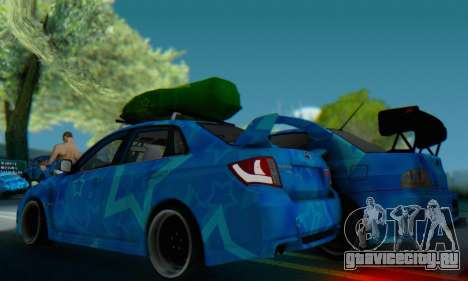 Subaru Impreza Blue Star для GTA San Andreas вид справа
