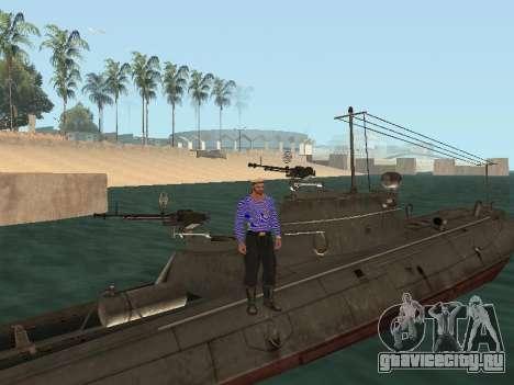Торпедный катер типа Г-5 для GTA San Andreas двигатель