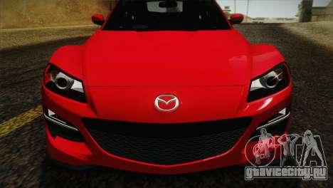 Mazda RX-8 Spirit R 2012 для GTA San Andreas вид сзади
