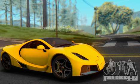 GTA Spano 2014 IVF для GTA San Andreas вид справа