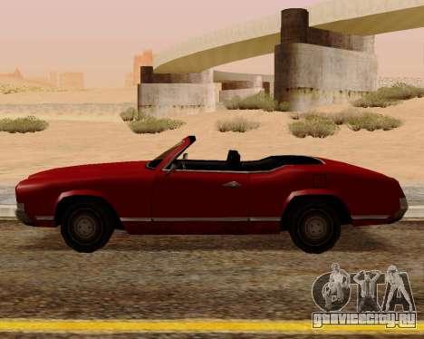 Sabre Кабриолет для GTA San Andreas вид слева
