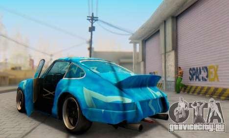 Porsche 911 Blue Star для GTA San Andreas вид сбоку