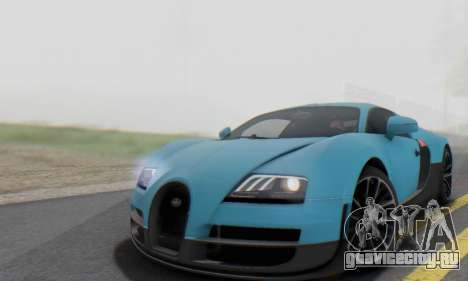 Bugatti Veyron Super Sport 2011 для GTA San Andreas вид сбоку