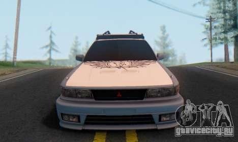 Mitsubishi Galant Generation Rock 1992 для GTA San Andreas вид сзади