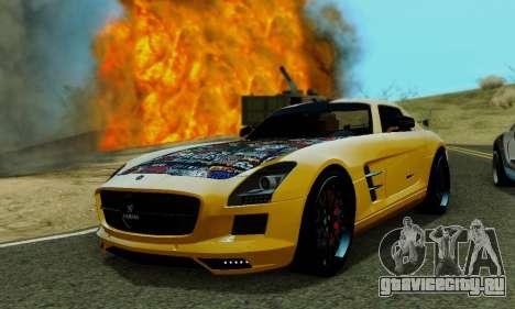 Mercedes SLS AMG Hamann 2010 Metal Style для GTA San Andreas