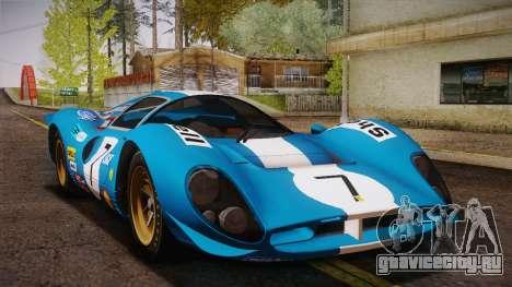 Ferrari 330 P4 1967 IVF для GTA San Andreas двигатель