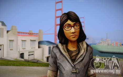 Sarah из The Walking Dead для GTA San Andreas третий скриншот