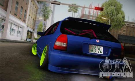Honda Civic EK9 2000 Hellflush для GTA San Andreas вид слева