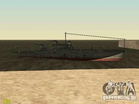 Торпедный катер типа Г-5 для GTA San Andreas вид сверху