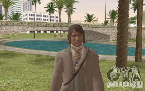 John Marston Gentleman Attire для GTA San Andreas третий скриншот