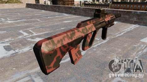 Автомат Steyr AUG-A3 Red tiger для GTA 4 второй скриншот
