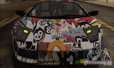 Lamborghini Murciélago 2005 Memes Editions IVF для GTA San Andreas вид сзади
