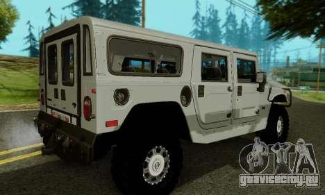 Hummer H1 Alpha для GTA San Andreas вид снизу