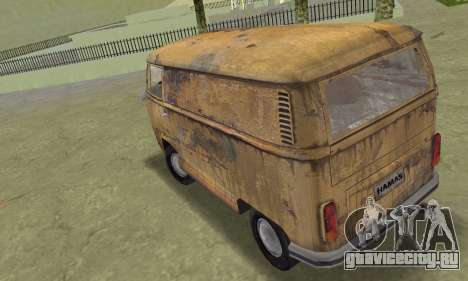 Volkswagen T2 Super Rust для GTA Vice City вид слева