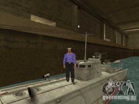 Торпедный катер типа Г-5 для GTA San Andreas вид снизу