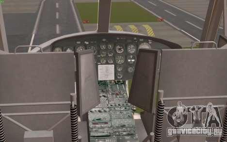 UH-1 Huey для GTA San Andreas вид сзади