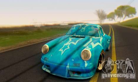 Porsche 911 Blue Star для GTA San Andreas вид слева