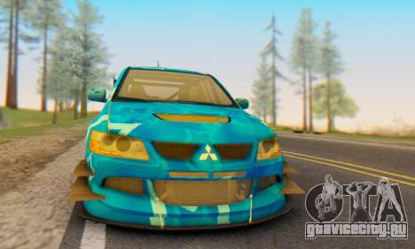 Mitsubishi Lancer Evolution IIIX Blue Star для GTA San Andreas вид справа