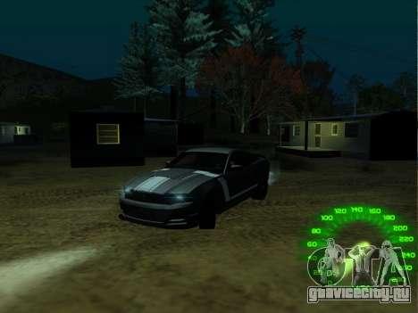 Спидометр в стиле neon для GTA San Andreas второй скриншот