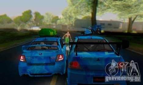 Subaru Impreza Blue Star для GTA San Andreas вид сбоку