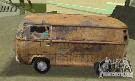 Volkswagen T2 Super Rust для GTA Vice City вид сзади слева