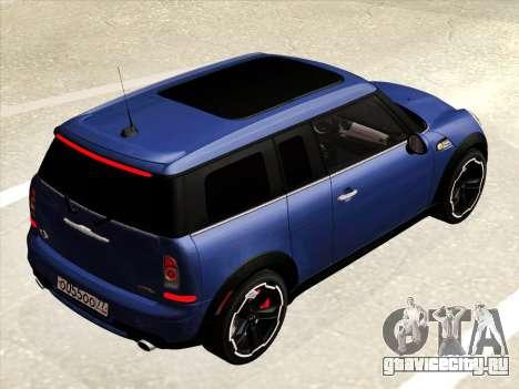 Mini Cooper Clubman JCW для GTA San Andreas вид изнутри