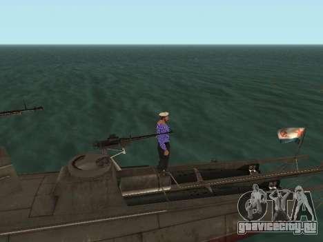 Торпедный катер типа Г-5 для GTA San Andreas салон