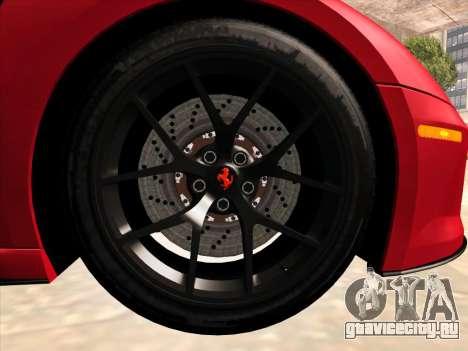 Ferrari 599 GTO для GTA San Andreas вид изнутри