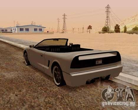 Infernus Кабриолет для GTA San Andreas вид сзади слева