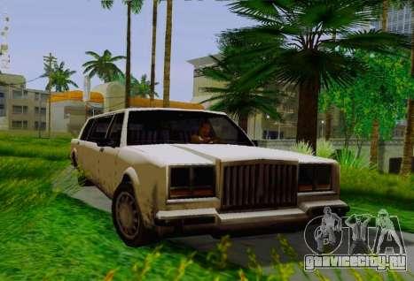 Greenwood Limousine для GTA San Andreas вид справа