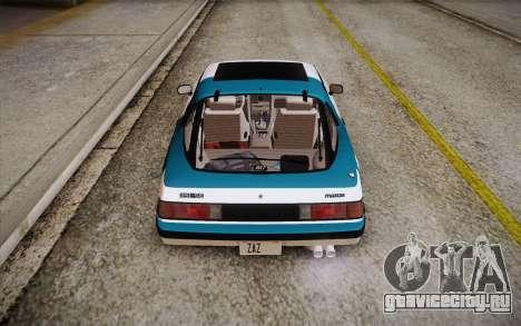 Mazda RX-7 GSL-SE 1985 HQLM для GTA San Andreas двигатель